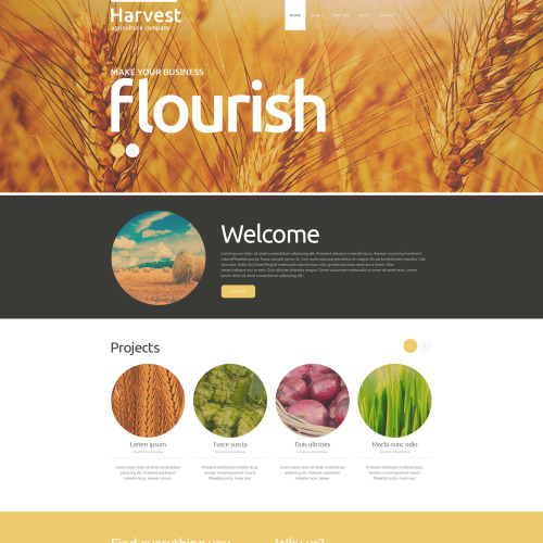 Harvest Agriculture Company - Joomla! Template based on Bootstrap
