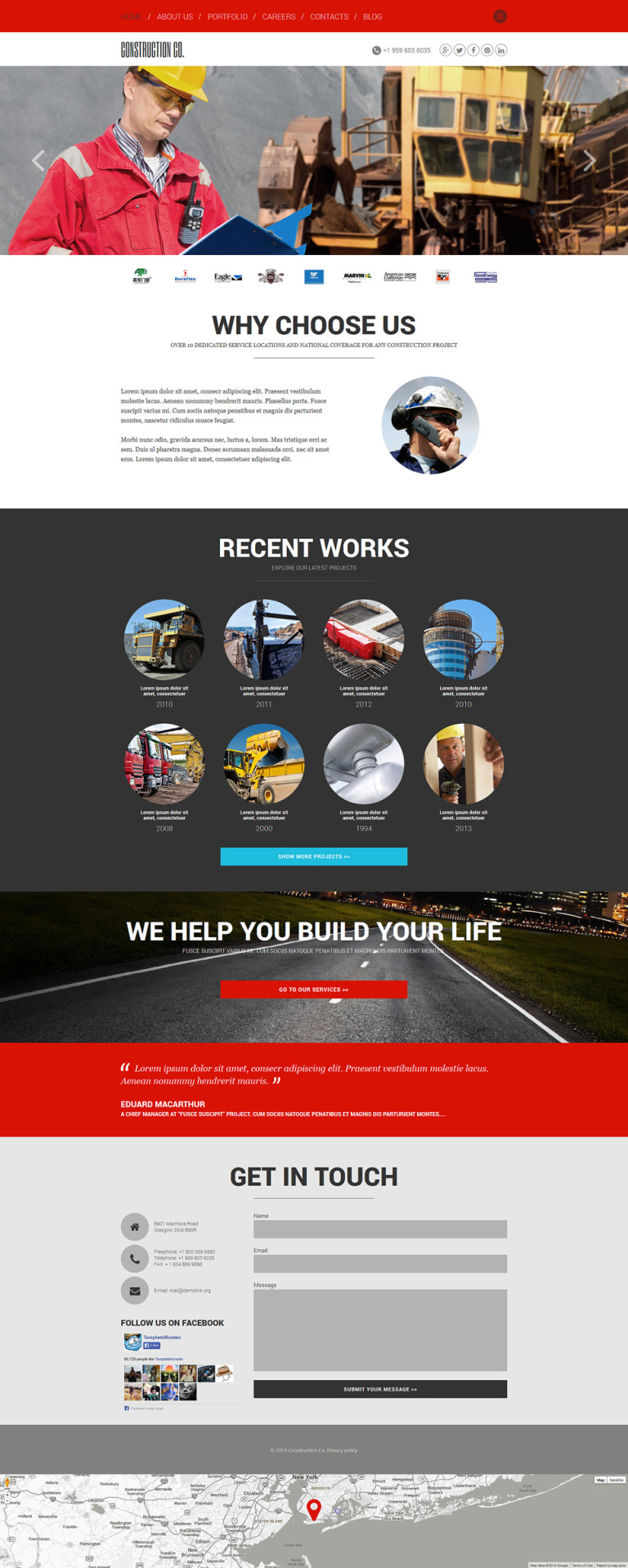 Construction Agency Joomla Template New Screenshots BIG