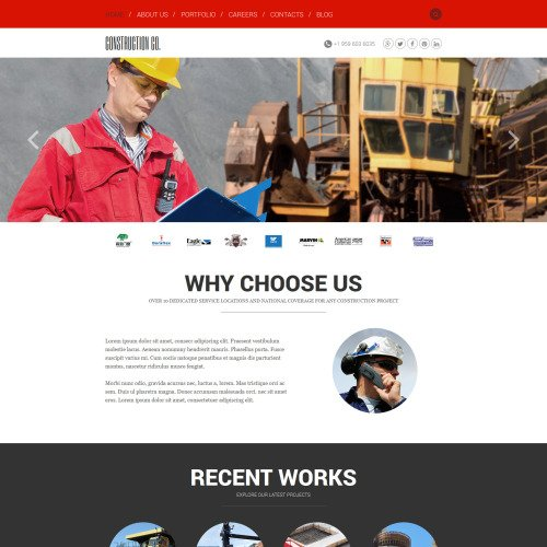 Construction Co. - Joomla! Template based on Bootstrap
