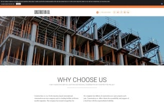 Construction Co. - Construction Agency Modern Joomla Template