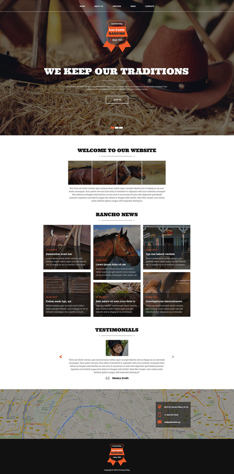 Cowboy Ranch Joomla Template New Screenshots BIG