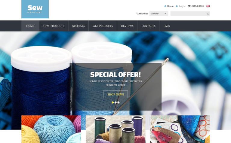 Craft Supplies ZenCart Template