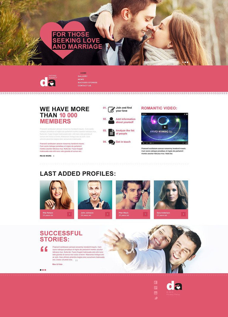 Dating Muse Template New Screenshots BIG