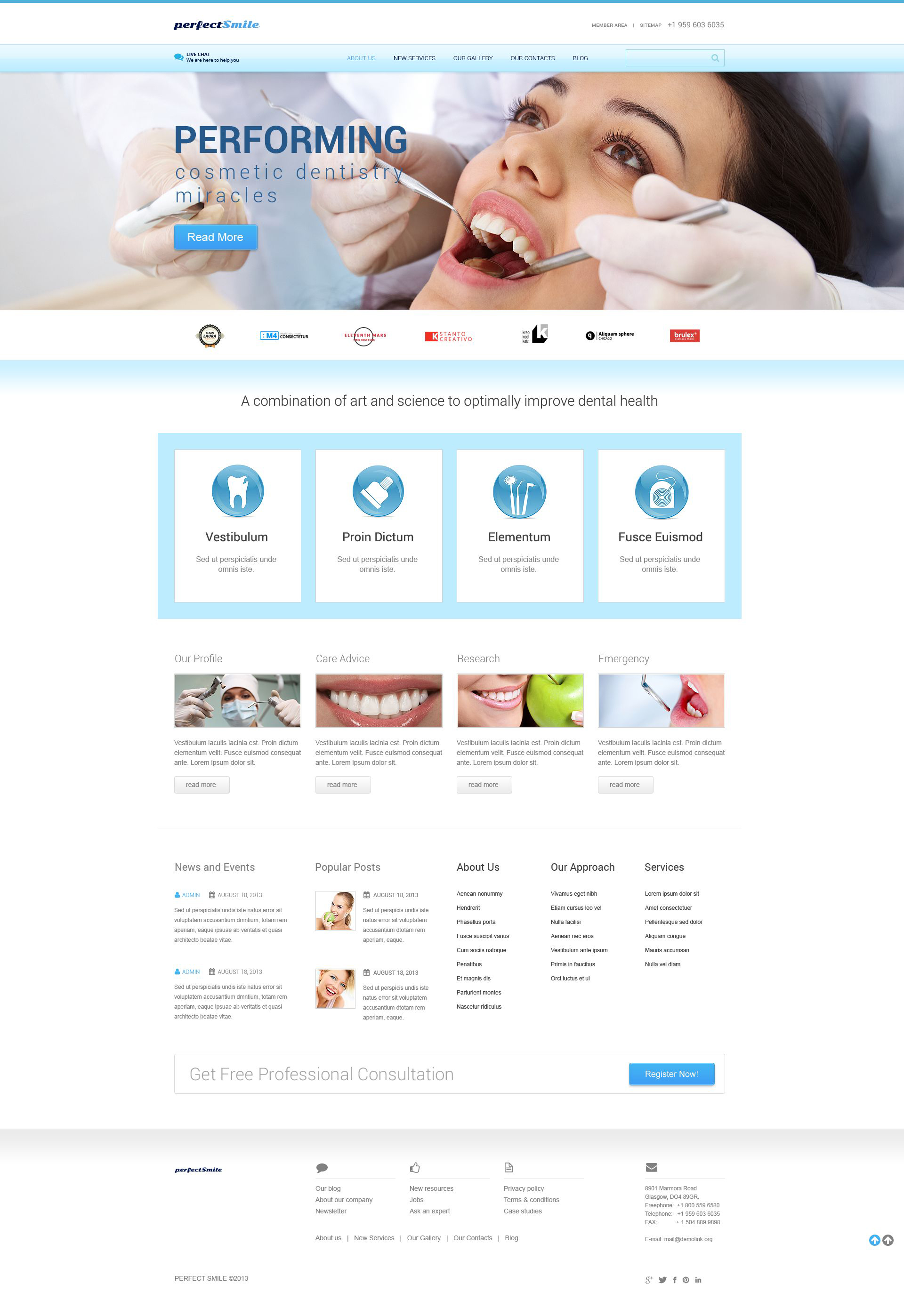 Dentistry Responsive WordPress Theme - screenshot