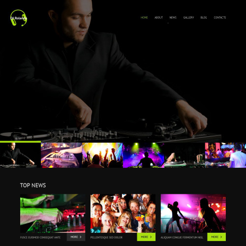 Dj Rolando - WordPress Template based on Bootstrap