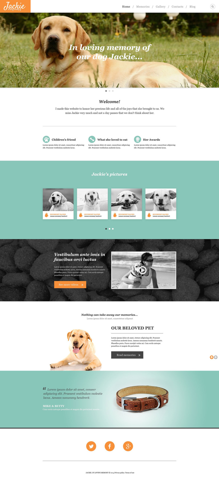 Dog Responsive Website Template New Screenshots BIG