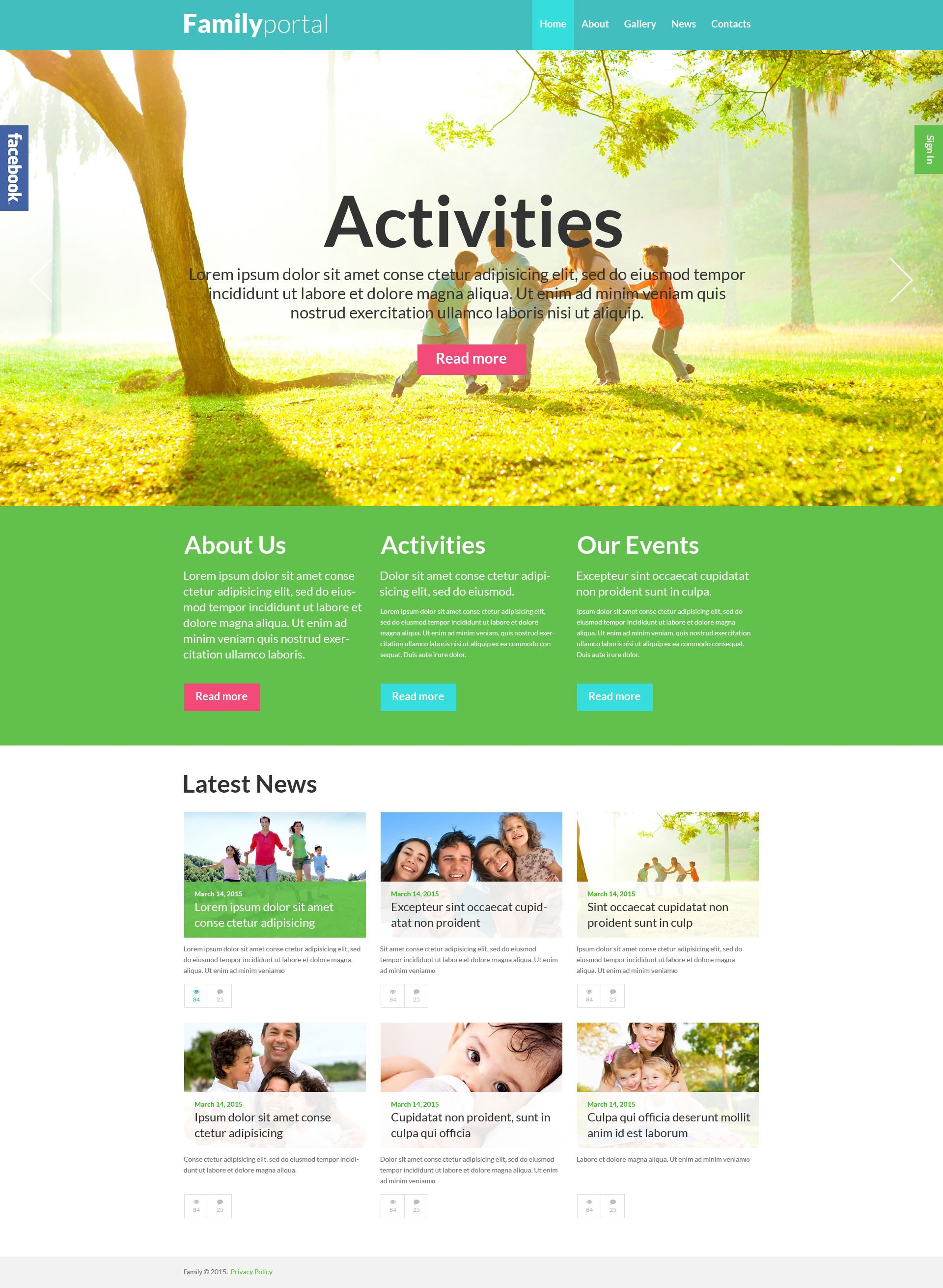 Family Board WordPress Theme - screenshot