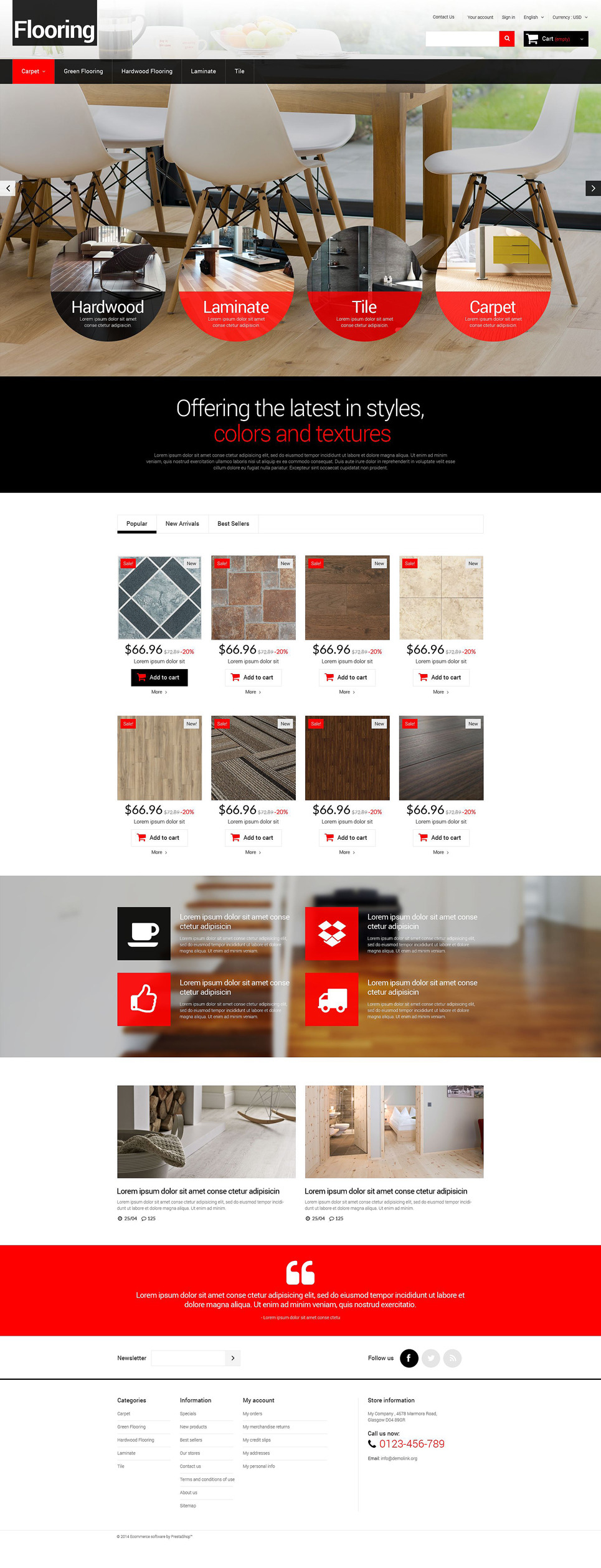 Flooring for Homes PrestaShop Theme New Screenshots BIG