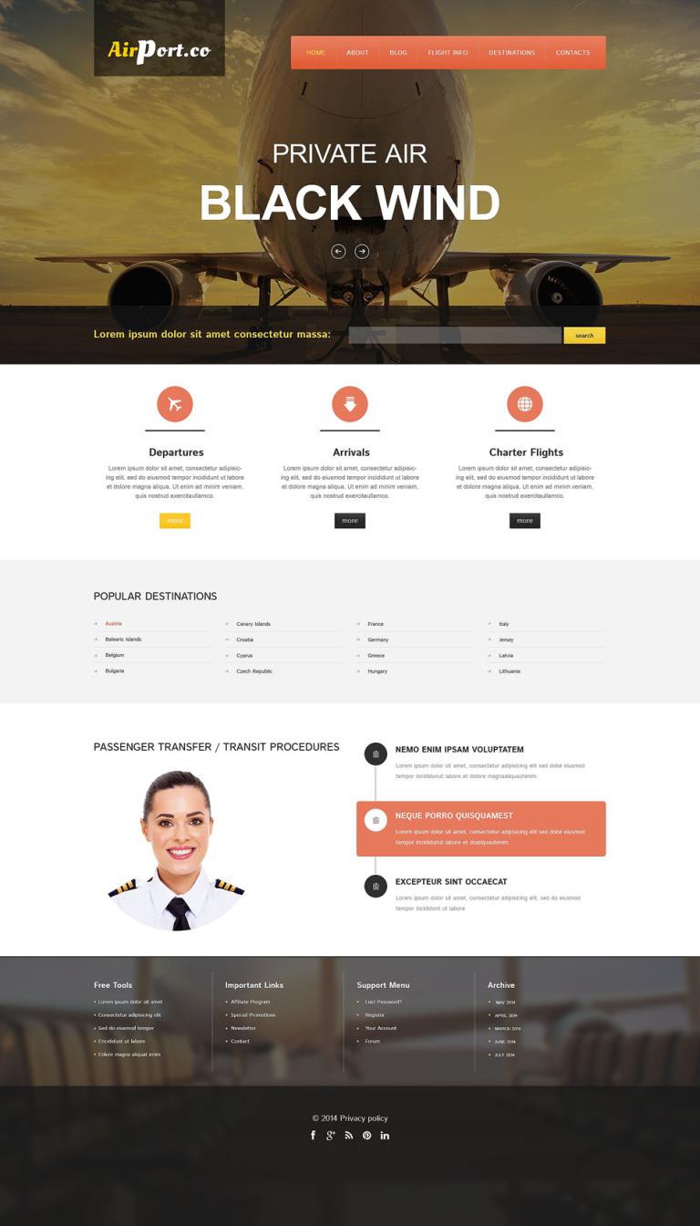 Flying Safe Drupal Template New Screenshots BIG