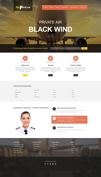 Flying Safe Drupal Template