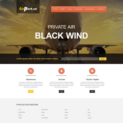 Airport. Co - Responsive Drupal Template