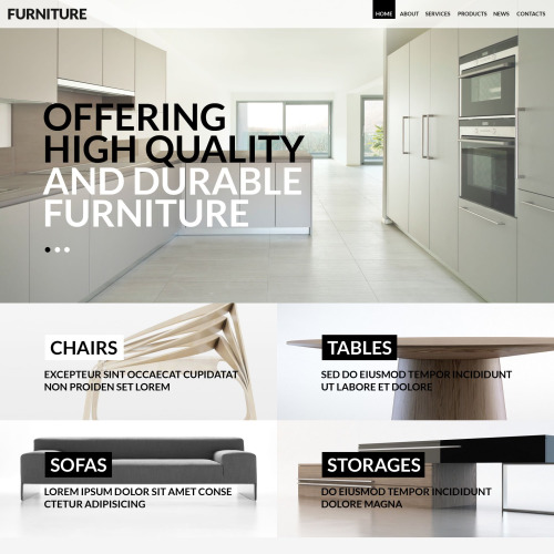 Furniture - WordPress Template based on Bootstrap