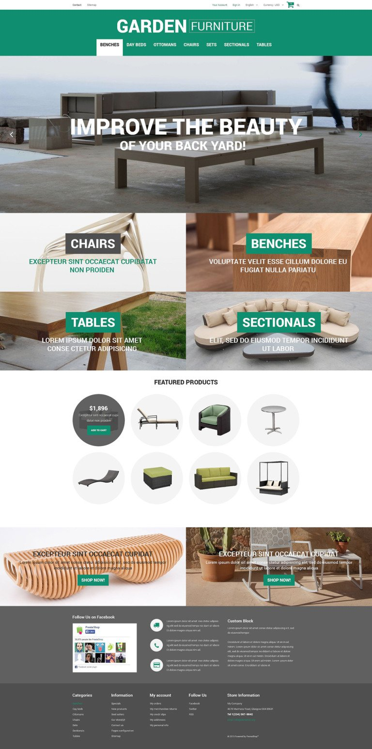 Garden Furniture and Sheds PrestaShop Theme New Screenshots BIG