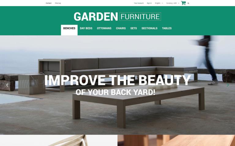 Garden Furniture and Sheds PrestaShop Theme