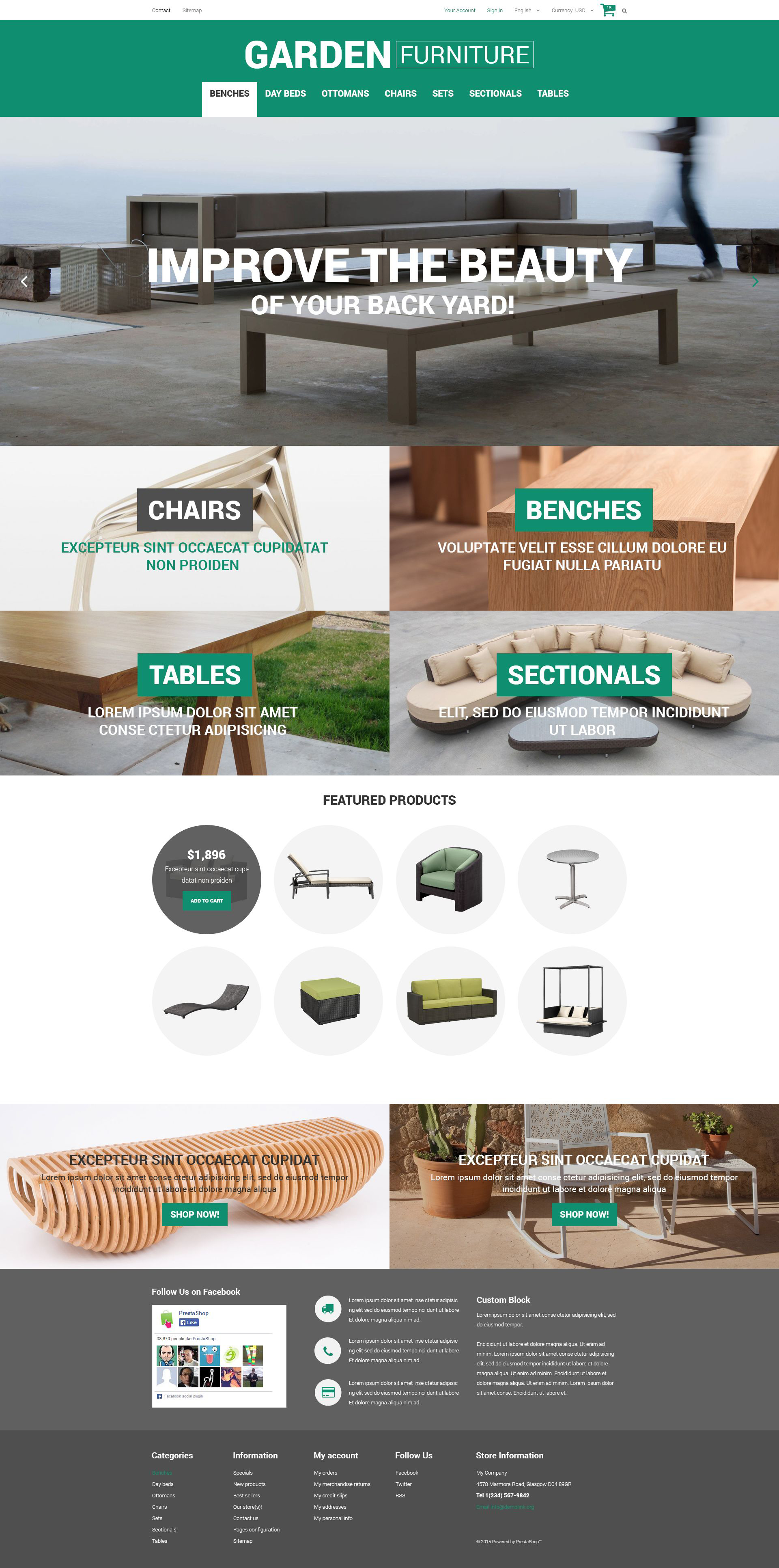 Garden Furniture and Sheds PrestaShop Theme