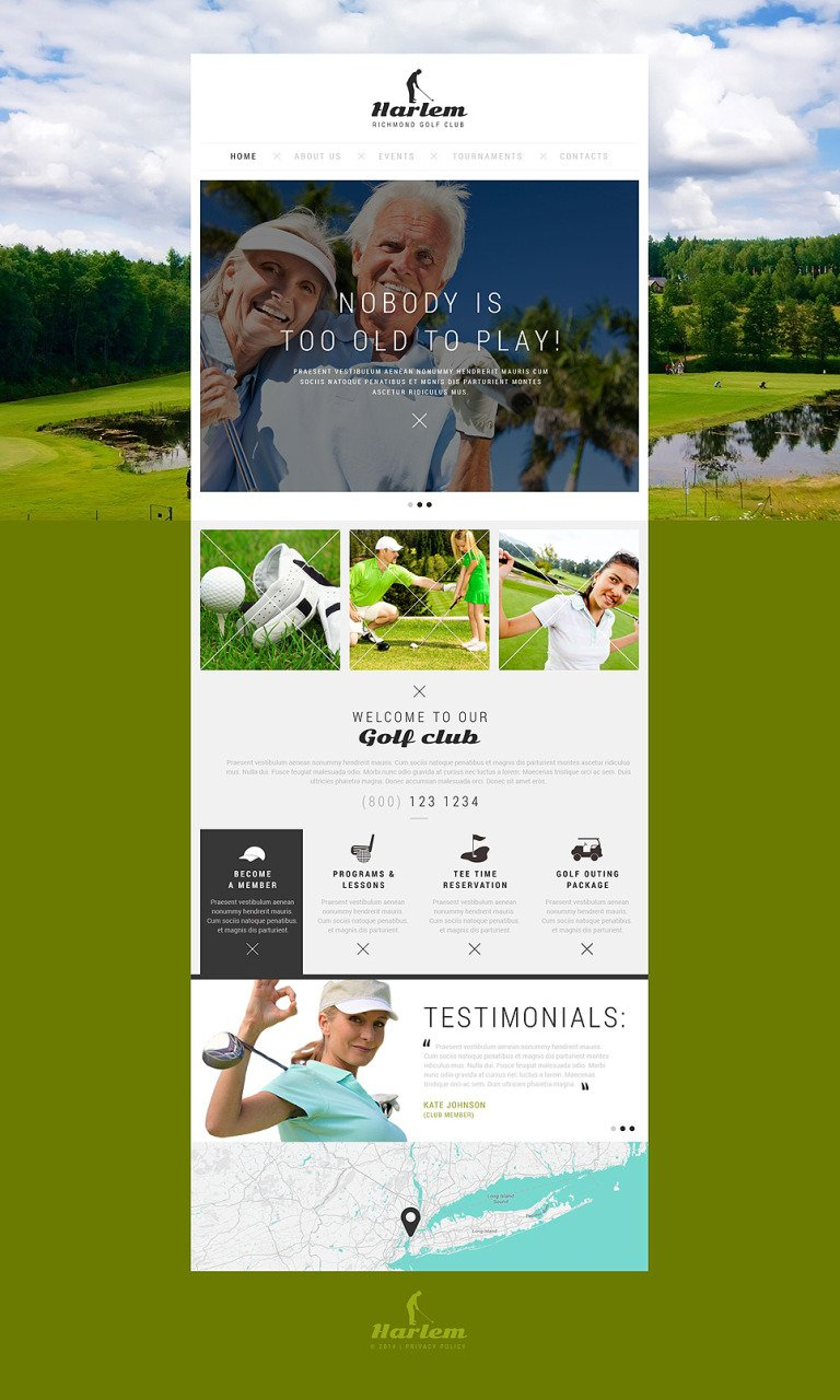 Golfing for All Ages Website Template New Screenshots BIG