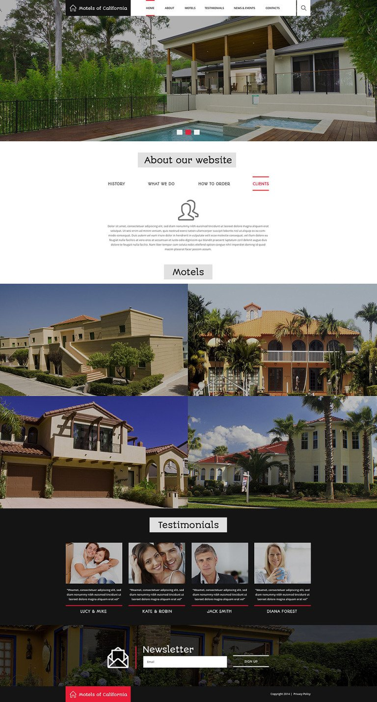 Hotels Motels Drupal Template New Screenshots BIG