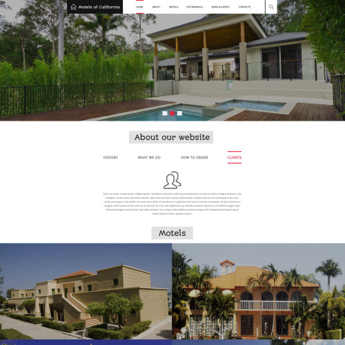 Motels Of California - Responsive Drupal Template