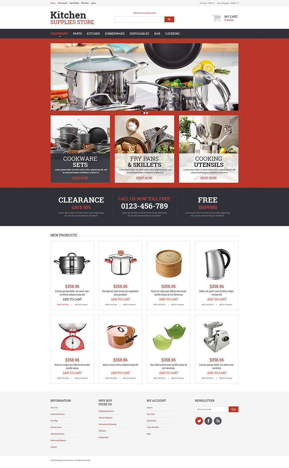 Kitchen Utensils Magento Theme New Screenshots BIG