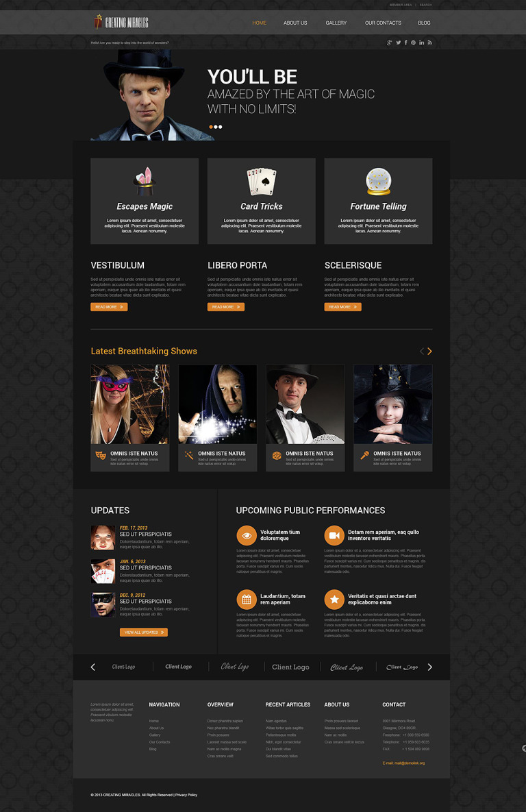 Magician Responsive WordPress Theme New Screenshots BIG