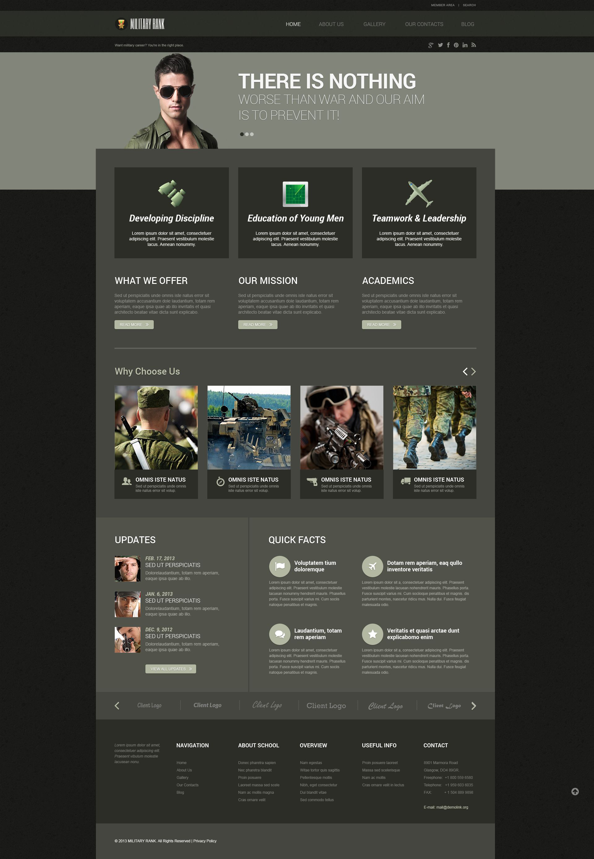 Military Responsive WordPress Theme - screenshot