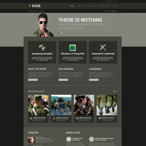 Military Rank - WordPress Template based on Bootstrap