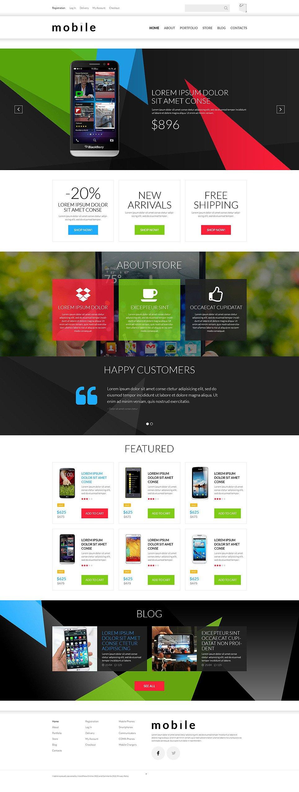 Mobile Gear Store WooCommerce Theme New Screenshots BIG
