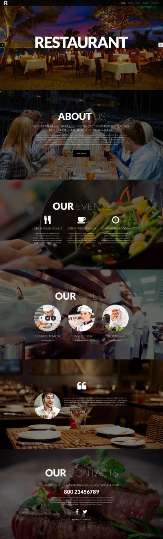 European Restaurant Responsive Template Siti Web
