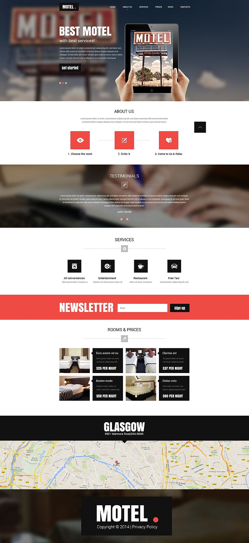Motel Responsive Website Template #52449