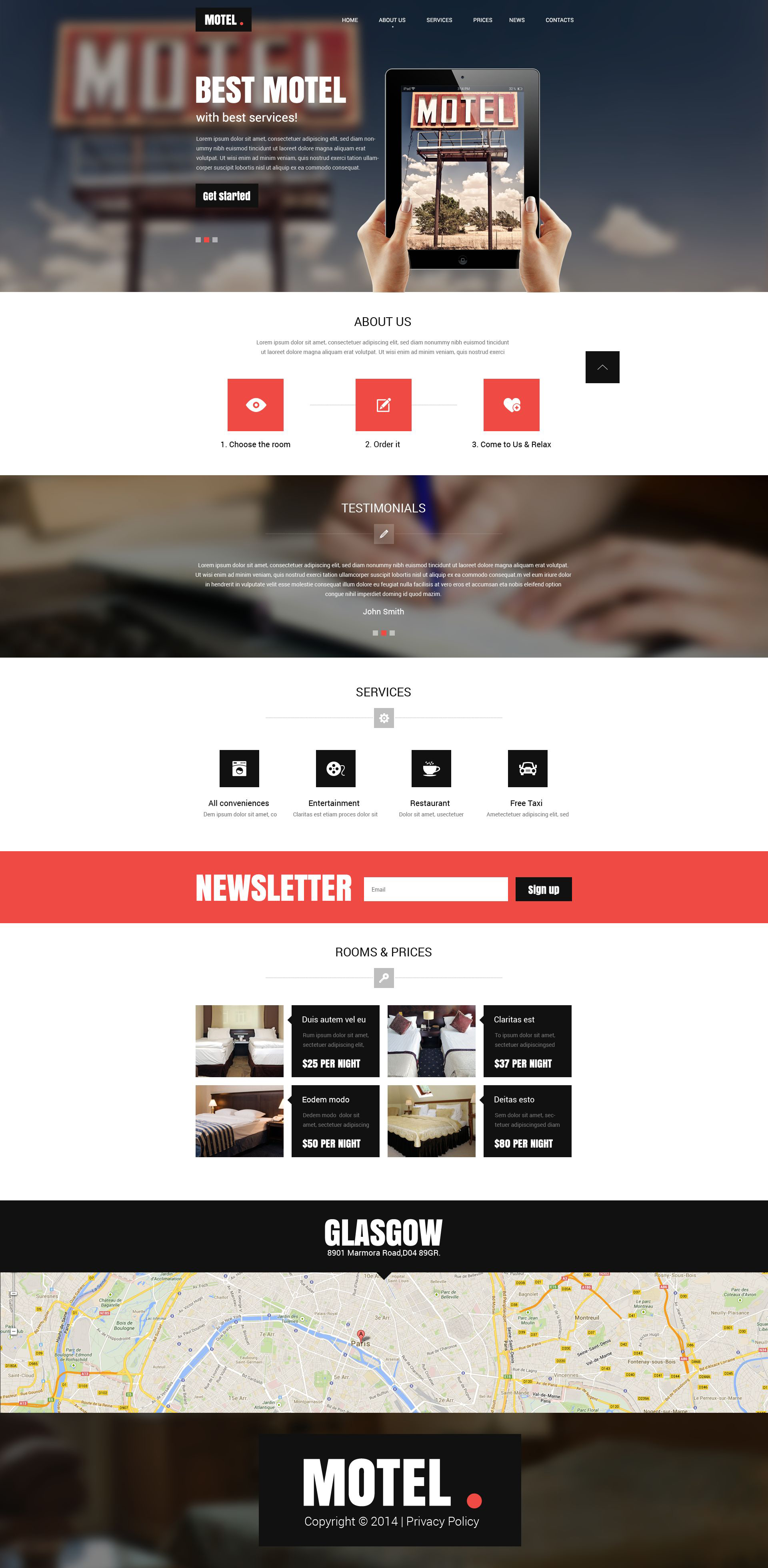 Motel Responsive Website Template