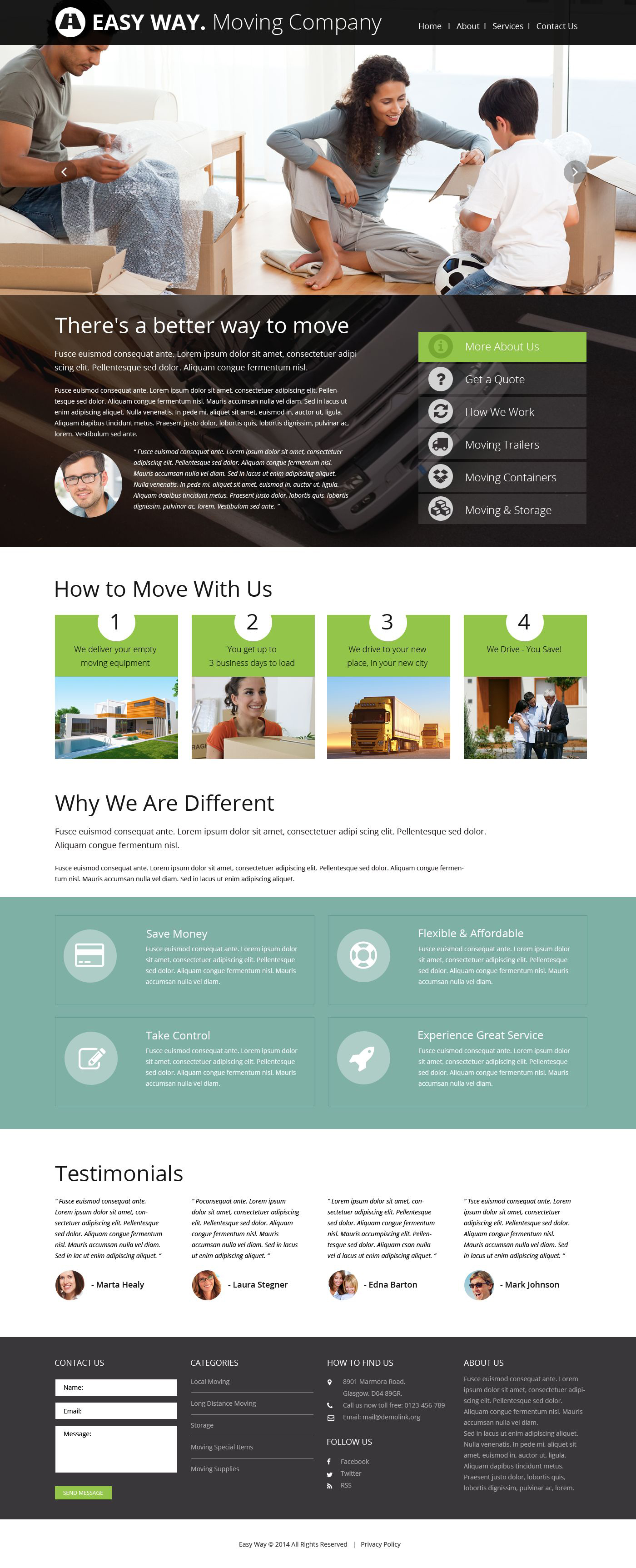 """""""Moving Company"""" Responsive Website template №52496"""