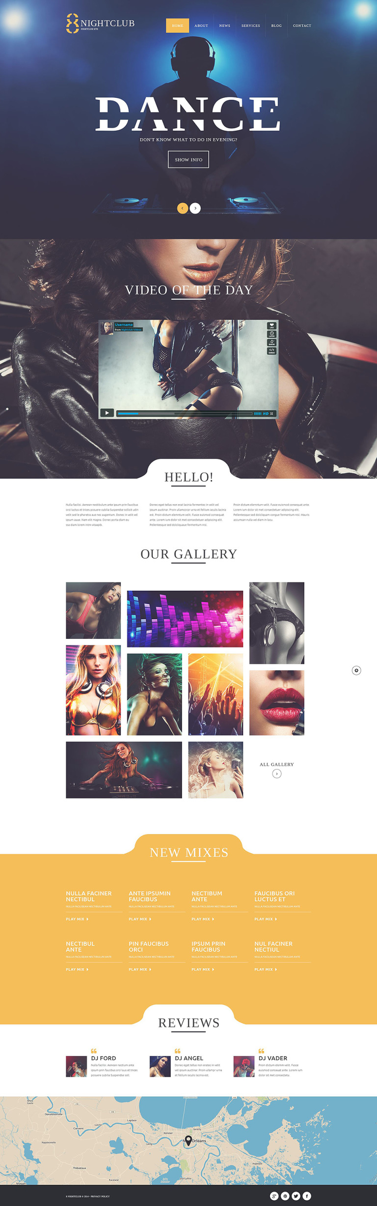 NightLife WordPress Theme New Screenshots BIG