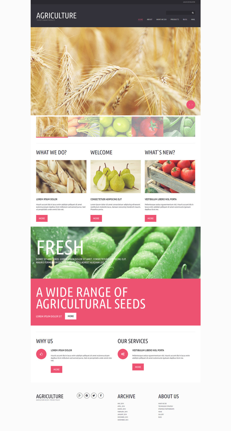 Organic Eating Joomla Template New Screenshots BIG