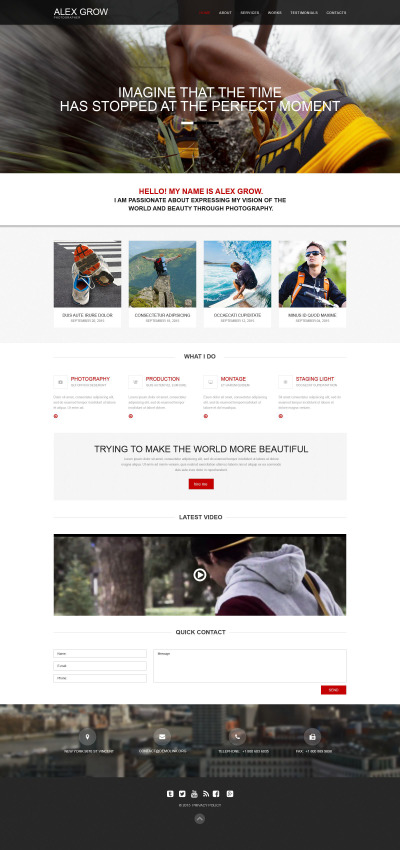 Plantilla Muse #52486 para Sitio de  para Portafolios de fotógrafos