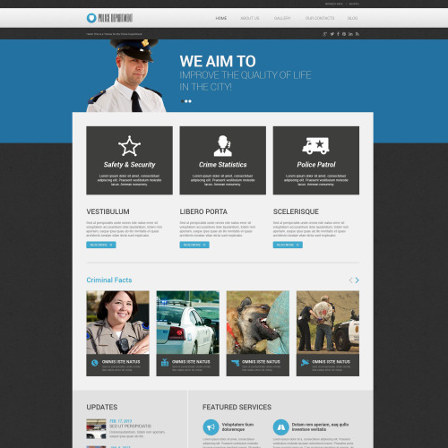 Police Department - WordPress Template based on Bootstrap