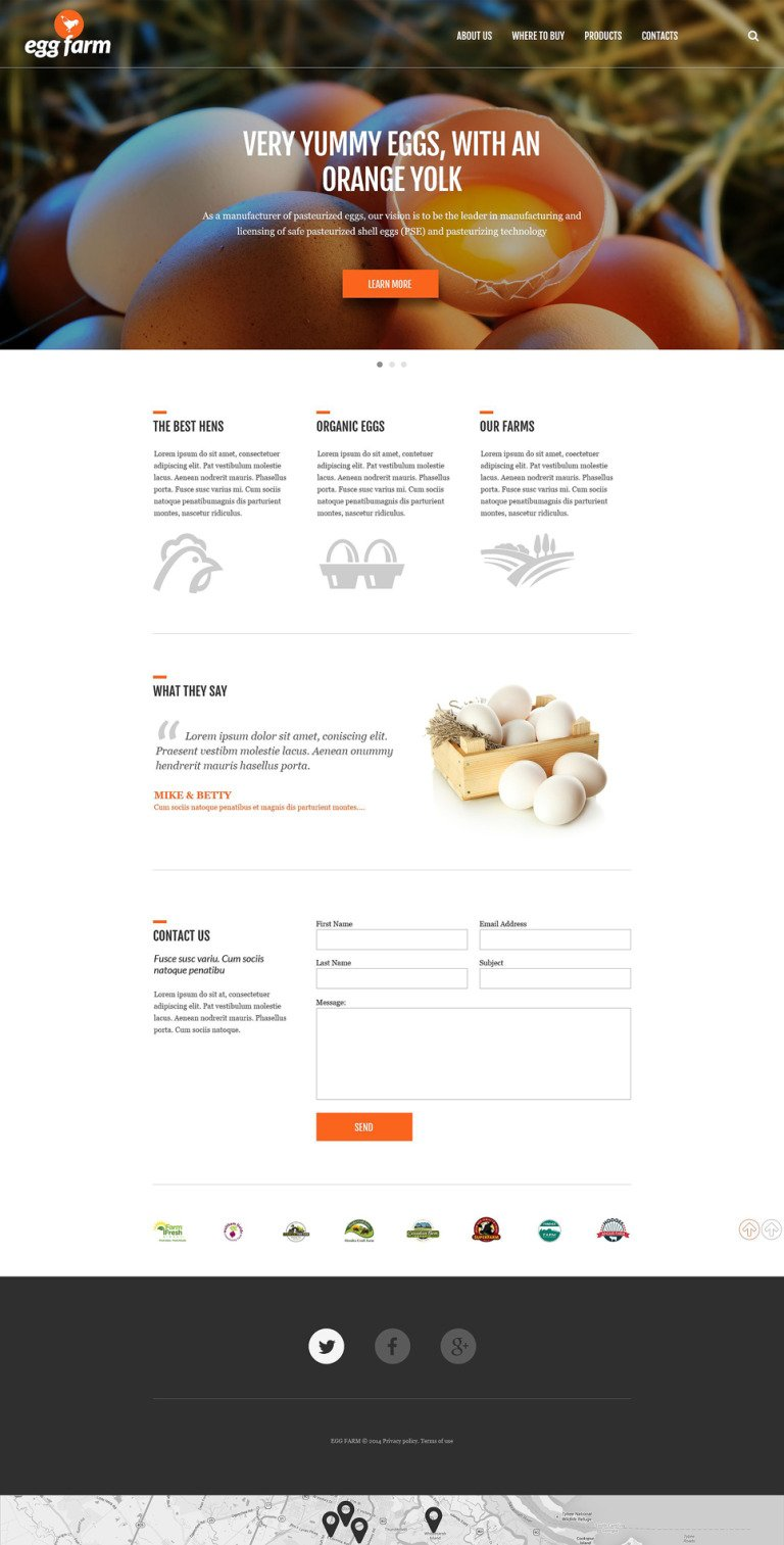 Poultry Farm Responsive Website Template New Screenshots BIG