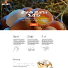 Website template #51057 poultry farm supplies custom website.