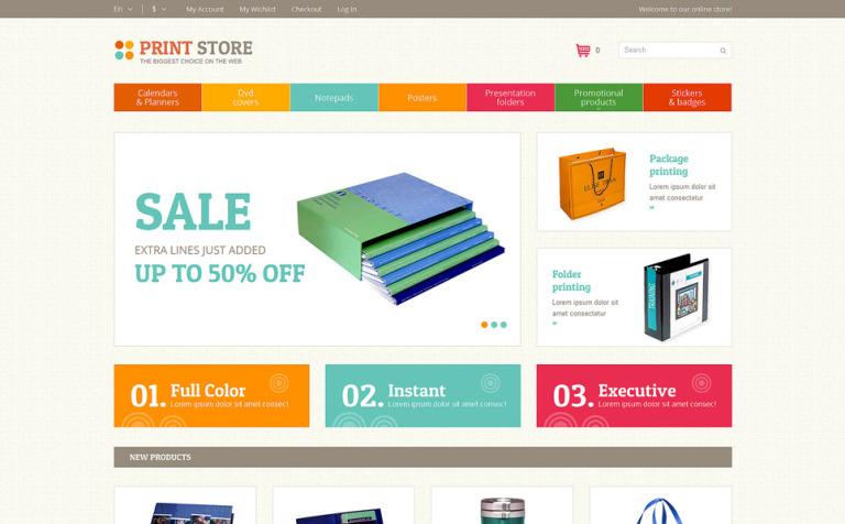 Print Store Magento Theme