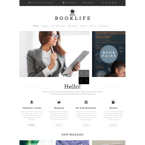 Booklife - Responsive Website Template