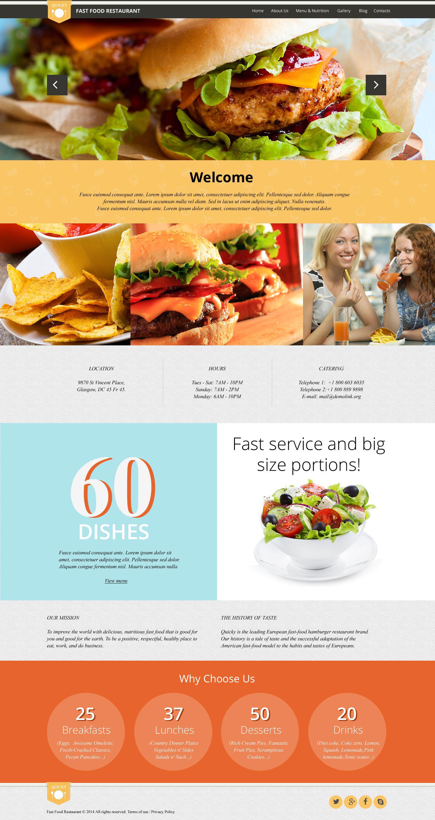 """Quick Snack"" thème WordPress adaptatif #52426"
