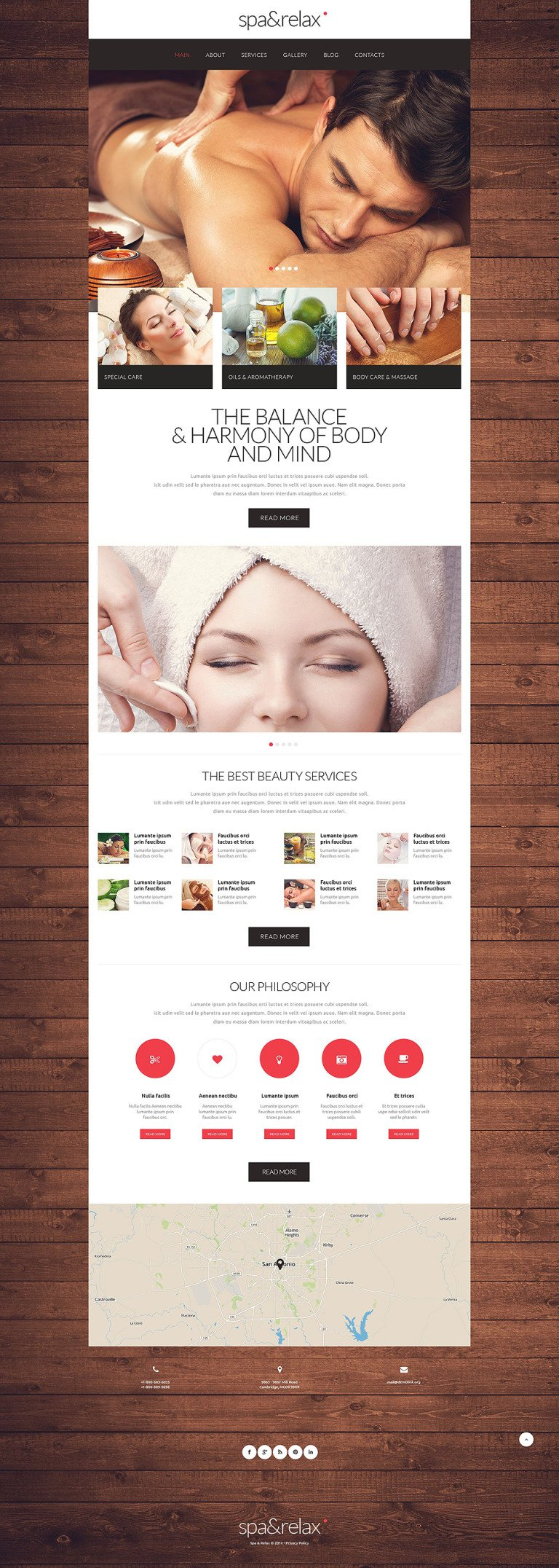 Relaxation Beauty Website Template New Screenshots BIG