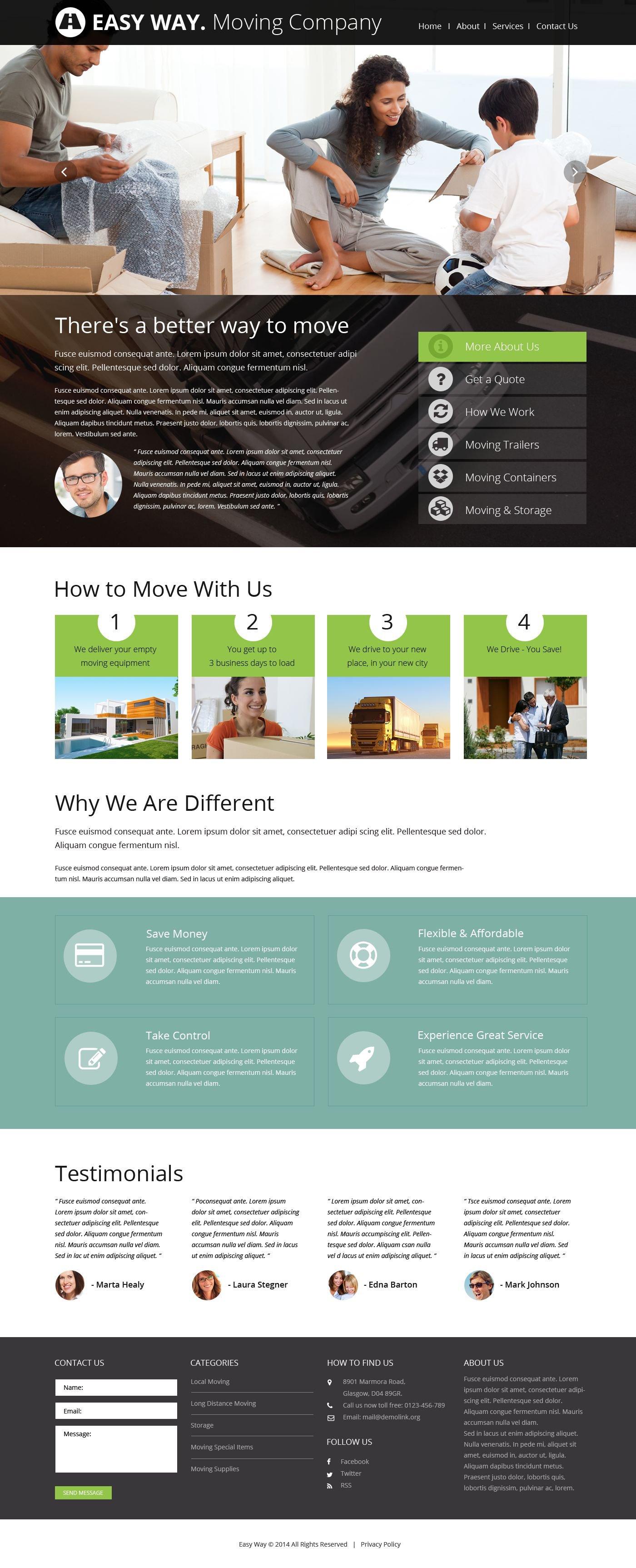 Responsive Moving Company Web Sitesi #52496