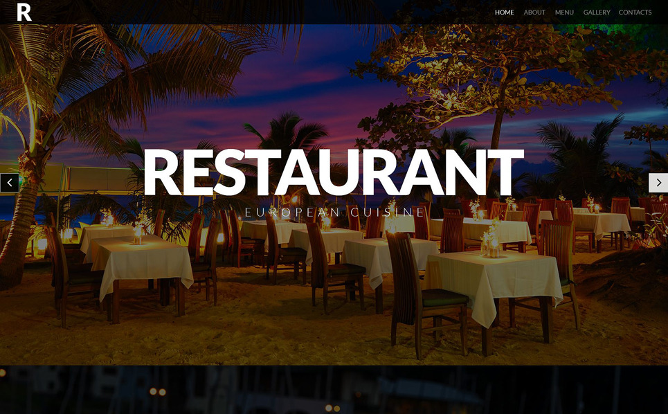 Responsive Website template over Europees Restaurant New Screenshots BIG