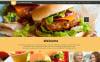 Responsive WordPress thema over Fast food restaurant  New Screenshots BIG