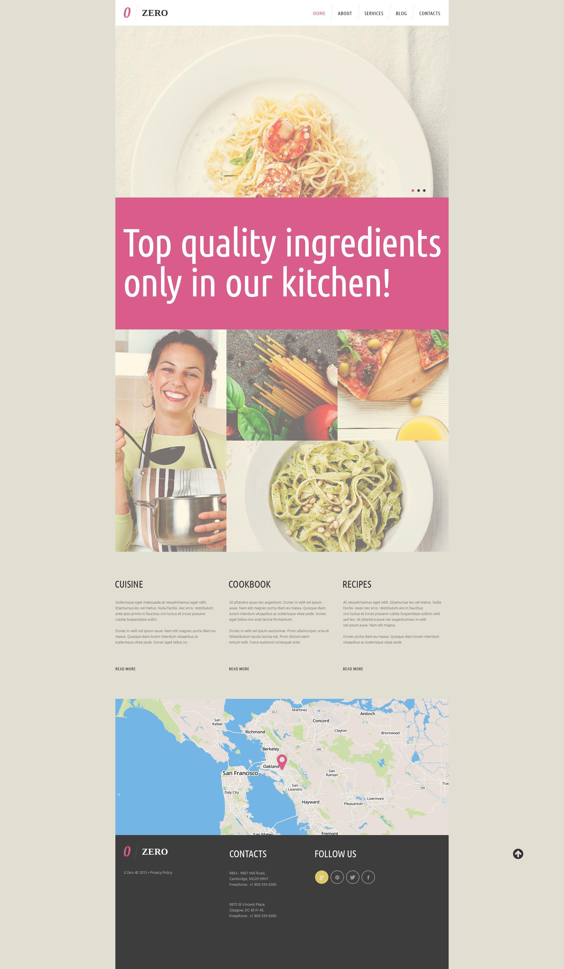 Responsywny motyw WordPress Cozy Cafe  Restaurant #52465 - zrzut ekranu