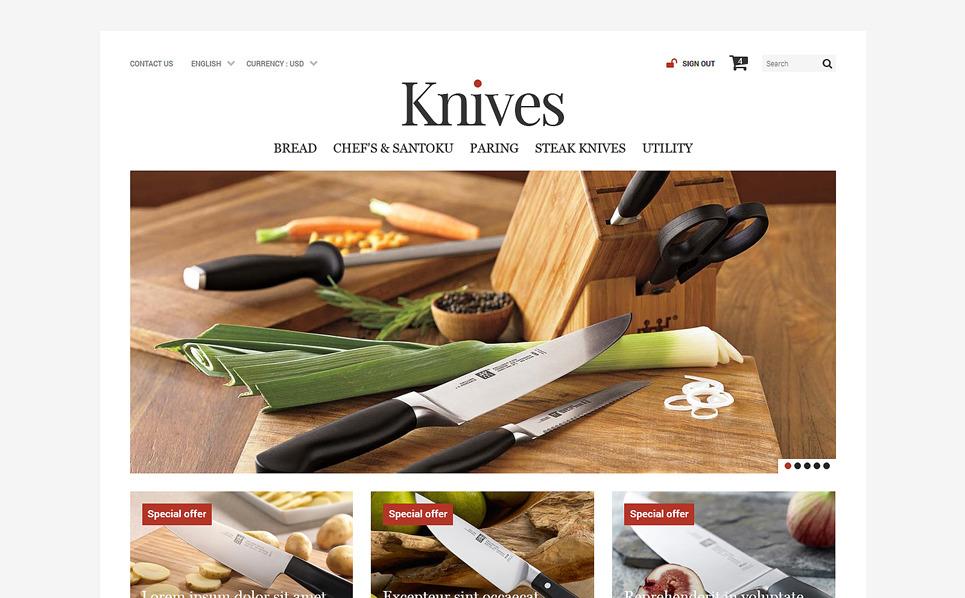 Responsywny szablon PrestaShop Sklep z nożami #52478 New Screenshots BIG