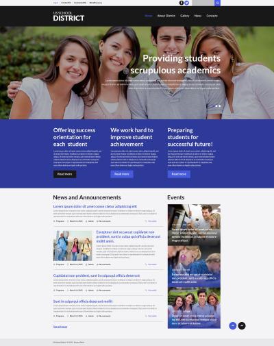 Thème WordPress adaptatif  pour site d'éducation
