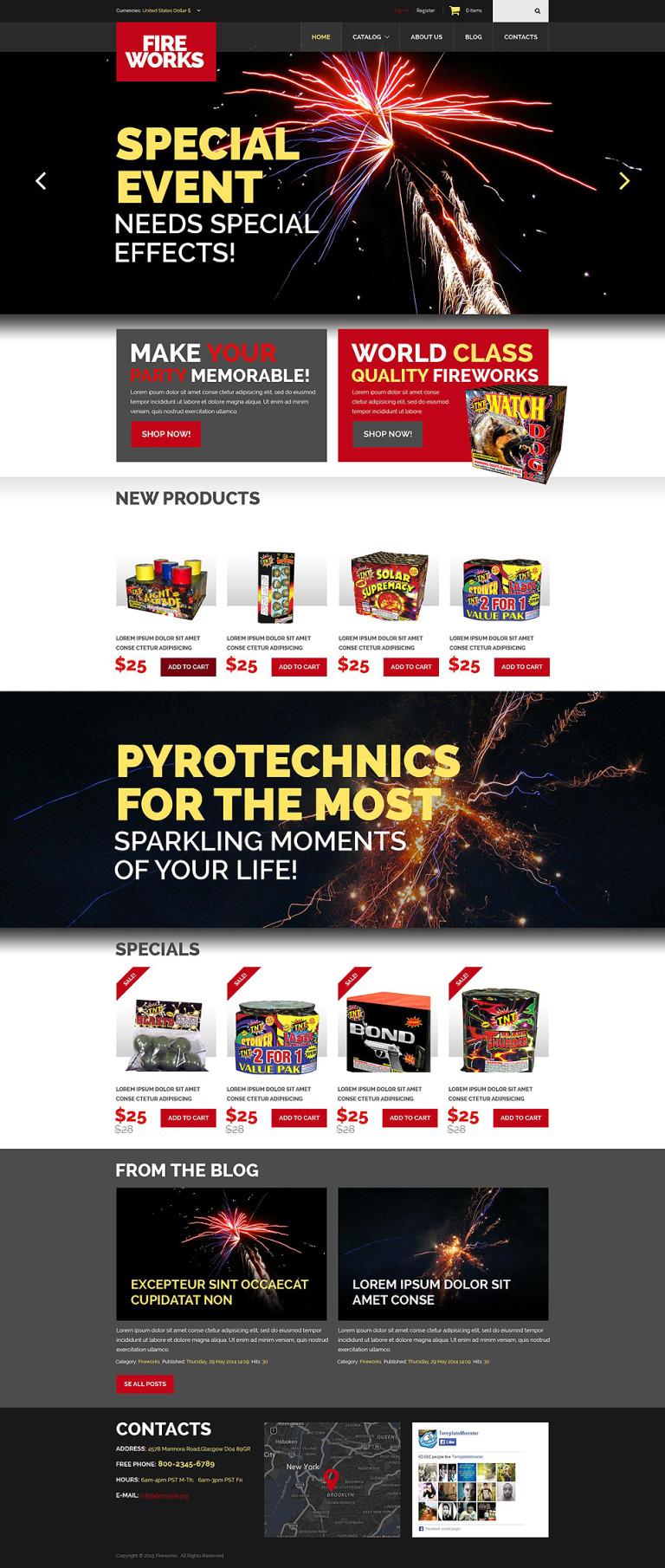 Spectacular Fireworks VirtueMart Template New Screenshots BIG