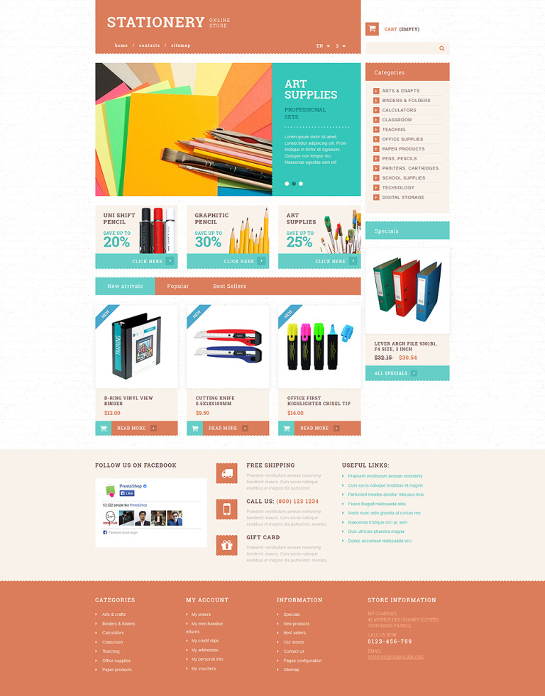 Stationery and Paper PrestaShop Theme New Screenshots BIG