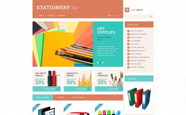 Stationery and Paper PrestaShop Theme